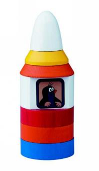 Der kleine Maulwurf in seiner Rakete