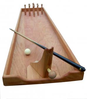 Tischkegelbahn - Stossbuddeln -Tischkegelspiel