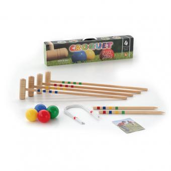 Krocket Buchenholz für Kinder und Erwachsene
