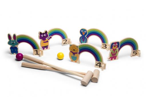 Rainbow Croquet Set