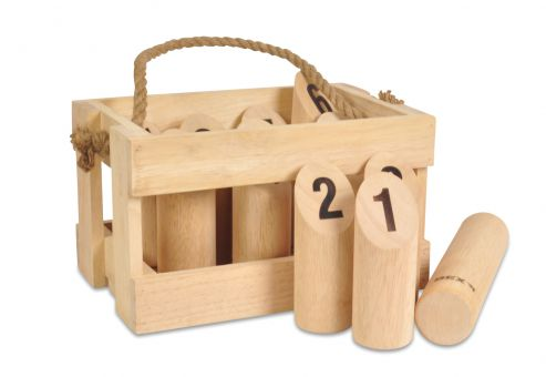 Number Kubb Hardwood wooden box