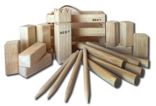 Kubb Rubber wood with wooden box