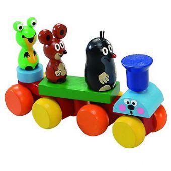 Holzzug mit dem kleinen Maulwurf und seine Freunde