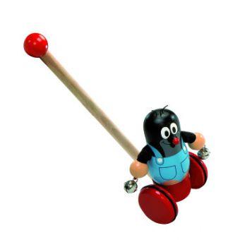 Holz-Schiebespielzeug der kleine Maulwurf