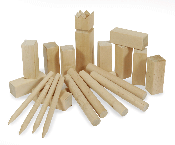 kubb kubb spiel original hartholz. Black Bedroom Furniture Sets. Home Design Ideas