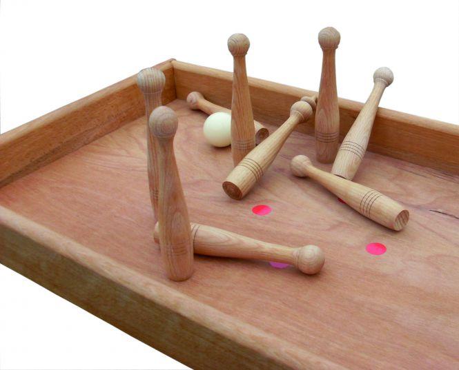 Kubb | Tischkegelbahn Stossbuddeln Tischkegelspiel